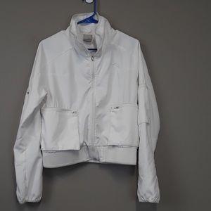 Nike White Zip Up Windbreaker Jacket